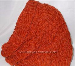 Хомут вязанный оранжевый