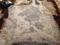 Настоящая оренбургская пуховая паутинка-платок