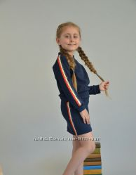 Школьный костюм свитшот и юбка с лампасами