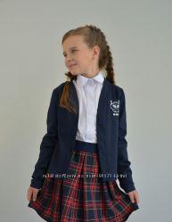 Жакет школьный для девочки с аппликацией