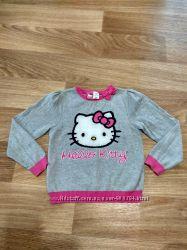 Детская кофта свитер реглан hello kitty 5-7 лет 122р