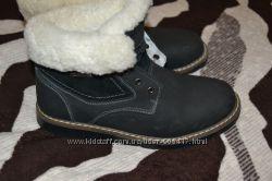 ботинки теплые натуральный набук унисекс