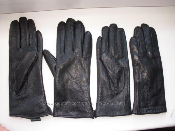 Новые перчатки натур. кожа на меху р. 6, 5