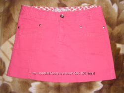 Крутая стильная юбка Zara кораллового цвета 11-15л