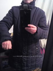 Пуховик чорный, размер 52-54