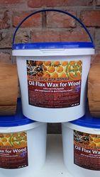 Льняное масло с пчелиным воском для дерева натуральная пропитка