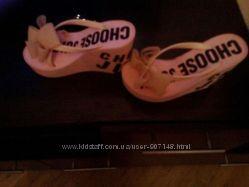 Вьетнамки шлепки Juicy Couture. Размер 36. Цвет розовый. Джуси.