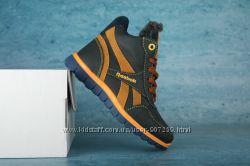 Детские зимние кроссовки Reebook Синийрыжий 10556