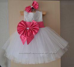 Нарядное детское платье на хб подкладке