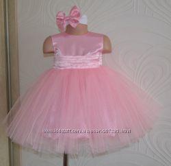 Нарядное розовое платье Мила