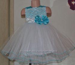 Нарядное пышное платье с кружевом, разные цвета