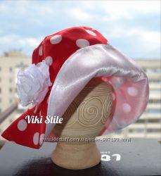 Шляпка- панамка нарядная и хлопок