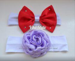 Нарядные повязки с цветами для девочек