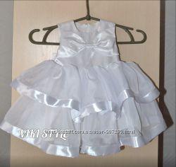 Красивое детское платье с лентами на годик и больше