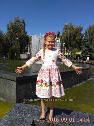 Украинское детское платье с маками, украиночка