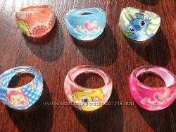 Кольцо детское мультяшные колечки - украшения для маленьких модниц.