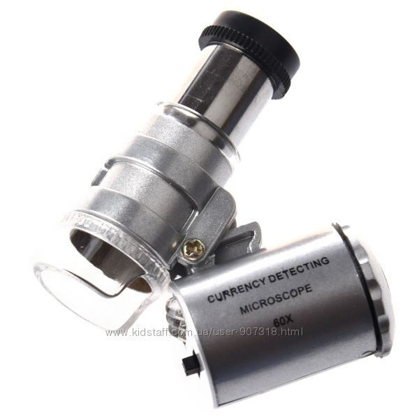 Микроскоп 60х с подсветкой мини.