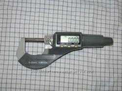 Микрометр цифровой 0-25 мм, точность 0. 001 мм  0, 00005