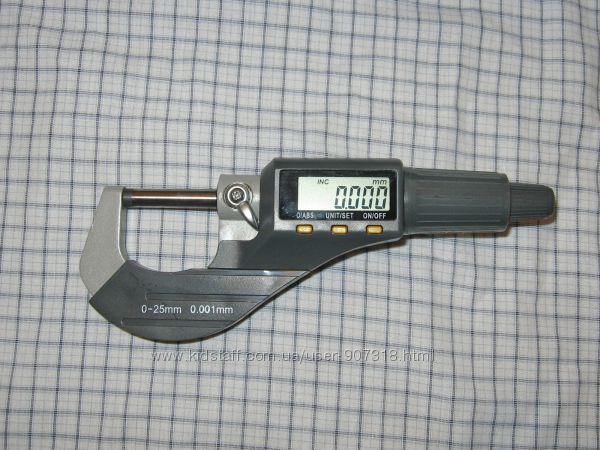 Микрометр цифровой 0-25 мм, точность 0. 001 мм  0, 00005   777