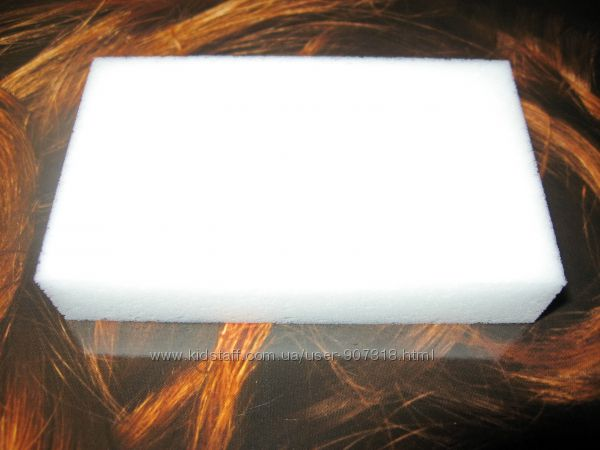 Меламиновые губки белые 10 х 6 х 2 см.