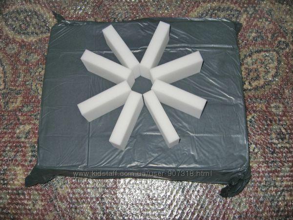 Меламиновые губки белые 10 х 6 х 2 см - 100 шт.