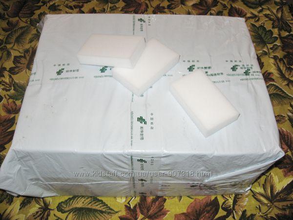 Меламиновые губки белые 10 х 6 х 2 см - 200 шт.