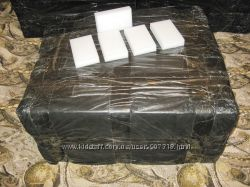 Меламиновые губки белые 10 х 6 х 2 см. Упаковка 400 шт.