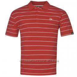 Dunlop футболка рубашка поло красная в белую полоску . Англия. Оригинал.