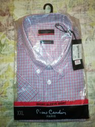 Pierre Cardi мужская шведка рубашка с коротким рукавом. Англия. Оригинал.