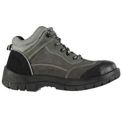 Мужские ботинки Donnay Steel Toe Cap Safety Boots Mens Charcoal Work Shoes.
