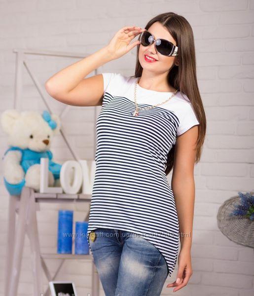 Морская футболка женская