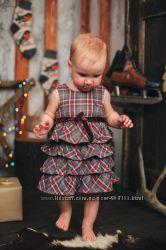 Стильное теплое платье H&M на годик. Плотная ткань, размер 80