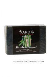 Чёрное мыло с бамбуковым углём и кокосовым маслом. Тайланд.