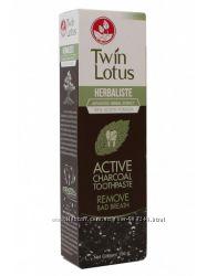 Растительная зубная паста с бамбуковым углём Твин Лотос.