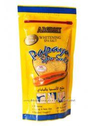 Спа соль для отшелушивания кожи с экстрактом папайи.