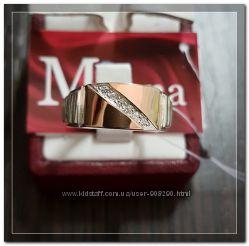 Серебряная мужская печатка с золотом Арт. 077
