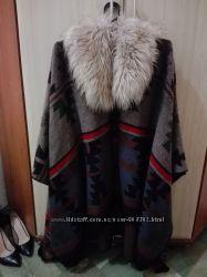 Пальто панчо шикарное