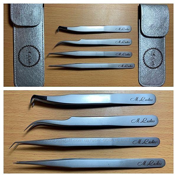 Пинцеты by M-Lashes сталь для наращивания ресниц