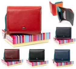 Разноцветный складной женский кошелек Rainbow Dr. Bond из натуральной кожи