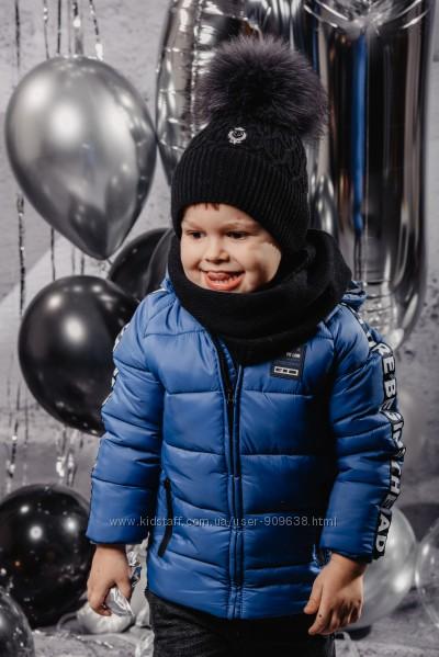 Шапка зима JAMIKS Luaner нат. помпон 4 цвета