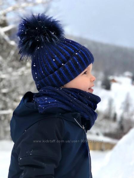 Шапка зима JAMIKS Jacek нат. помпон 3 цвета