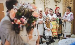 Народна пісня на свято, весілля в українському стилі