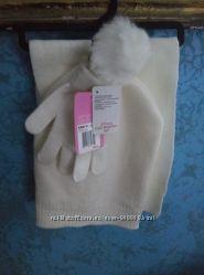 Наборшапка, шарф, рукавички