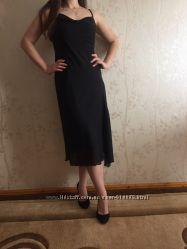 Шикарное черное вечернее платье миди от Yesscia в состоянии нового