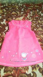 Детский теплый сарафанчик для девочки 6-9 месяцев в идеальном состоянии