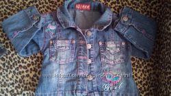 джинсовый пиджачек  для девочки до 3 лет в идеальном состоянии