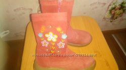 Детские сапожки 26 размер осенние, можно на теплую зиму замшевые