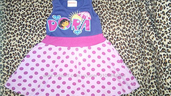 Платье-сарафан для девочки с Dora 1-2 года 92 см фирма nickelodeon.