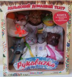 Кукольный театр домашний, Куклы-перчатки на руку, Пальчиковый театр, Акция