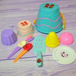 Набор для песка торты и пирожные , пасочки мороженное и кексики